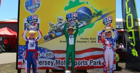 Mini MAX podium at 2018 Rotax Nationals