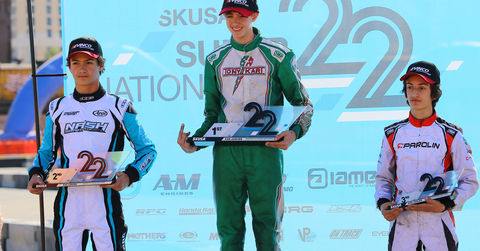 X30 Junior podium 2018 SKUSA SuperNationals XXII