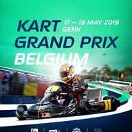 2019 FIA Karting European Championship OK/Junior Round 2 event logo