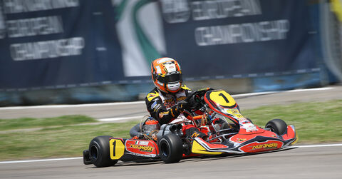 Fabian Federer full speed on track in Sarno