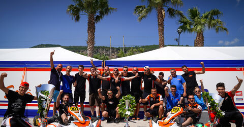 CPB Sodi Kart team celebration