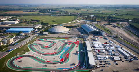 Aerial of Adria karting circuit
