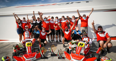 BirelART Factory Racing Team celebrates