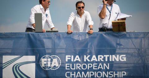 FIA/CIK Officials, including new president Felippe Massa