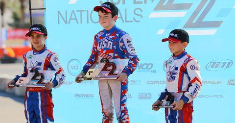 Mini Swift podium 2018 SKUSA SuperNationals XXII