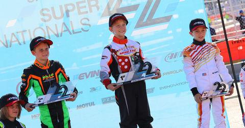 Micro Swift podium 2018 SKUSA SuperNationals XXII