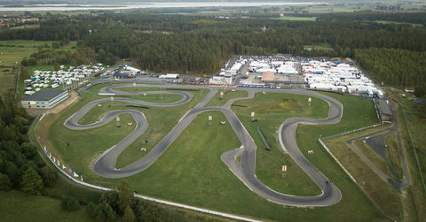 Aerial of the Kristianstad karting circuit