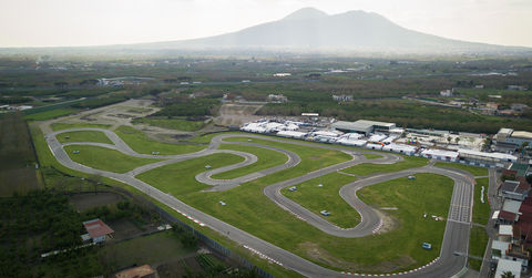 Aerial of the Circuito Internazionale Napoli of Sarno