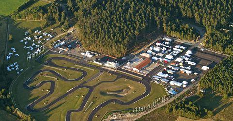 Kristianstad Karting Club aerial view